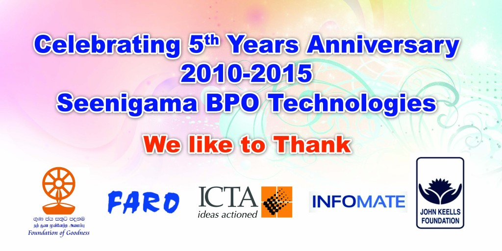 Anniversary banner
